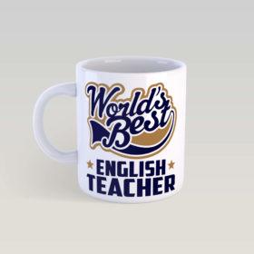 Кружка World's Best english teacher